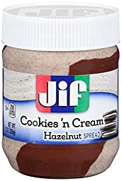 Jif Cookies \'n Cream Hazel Spread (Pack of 2) 13 oz Jars