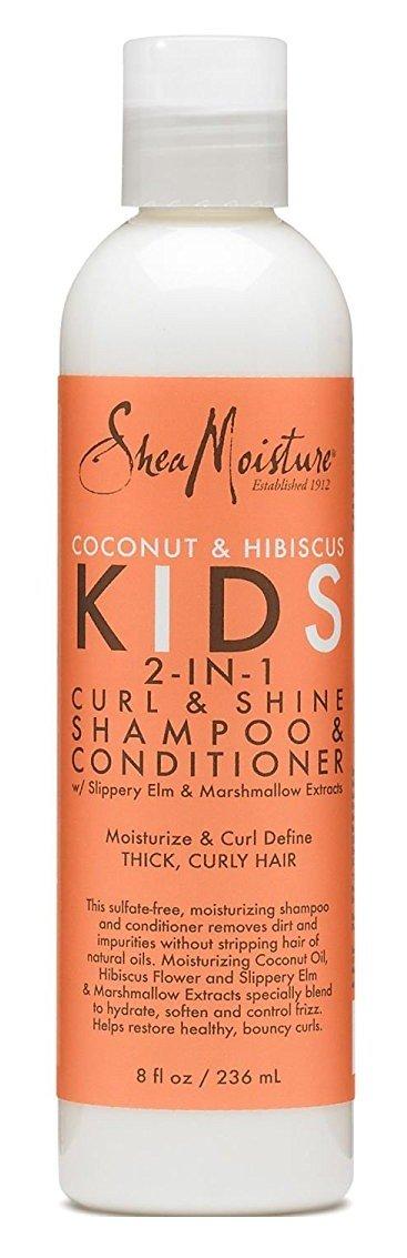 Shea Moisture Kids Shampoo 2-In-1 Coconut & Hibiscus 8 Ounce (236ml) (6 Pack) by Shea Moisture