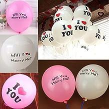 "100Pcs 12"" White Latex I LOVE YOU Heart Balloons for Celebration Wedding Party Decoration"