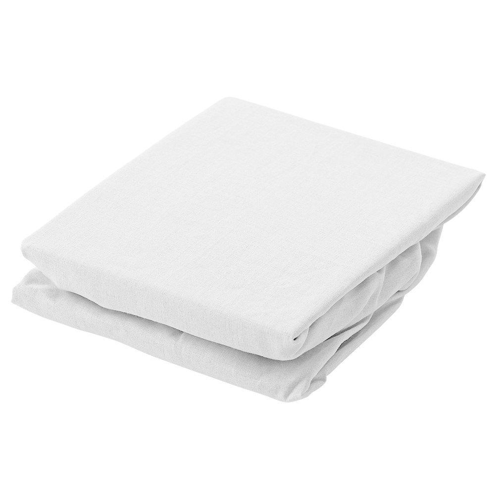 フレンチリネン La.chic ラシック ボックスシーツ セミダブルサイズ 120×200×30cm (ホワイト) B0734YBPH8 ホワイト