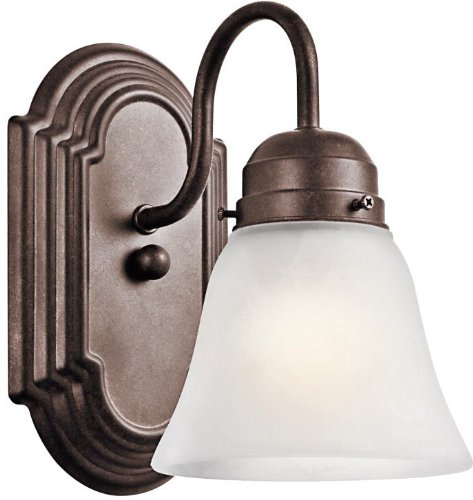 Tannery Bronze Single Light (Kichler 5334TZ, New Street 1-Light Wall Sconce, Tannery)