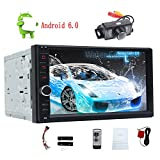 7Inch GPS Stereo Car Android 6.0 System Autoradio Bluetooth 4.0 Quad Core GPS Navigation in Dash Double din Multi-Touch Screen Head Unit Car Radio Navigation Receiver Tablet Auto Audio Media Player