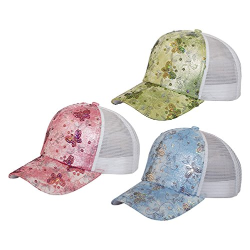 Hats & Caps Shop 5 Panel Ladies' Cap W/Butterly Sequins - By TheTargetBuys | (STD) (Sequin Sailor Costume Hat)