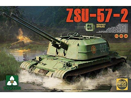 TAKOM TAK-2058 Modellbausatz Soviet SPAAG ZSU-57-2 2 in 1, Spiel
