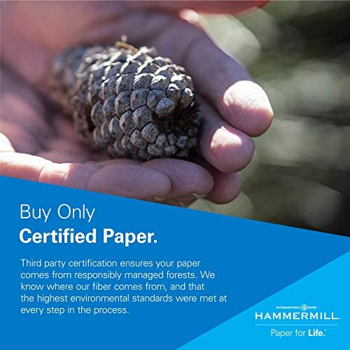 Hammermill Printer Paper, Great White 30% Recycled Paper, 8.5 x 11 - 3 Ream (1,500 Sheets) - 92 Bright, Made in america
