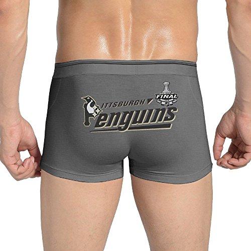 Men's Hockey Champions 2016 PenguinsStretchable Underwear Boxer Brief Ash