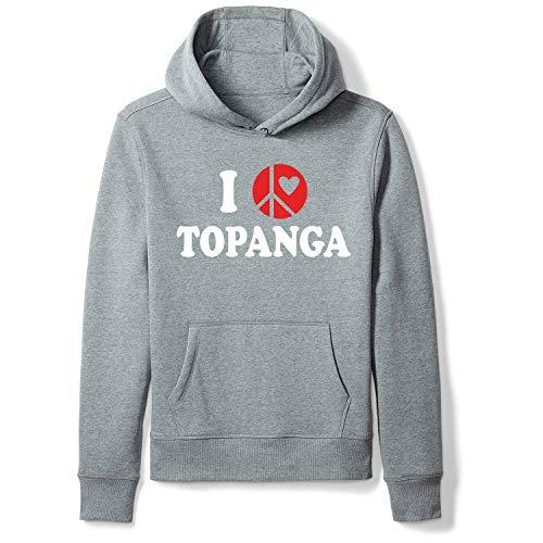 (Topanga Casual Graphic Pullover Sweatshirt Men's/Unisex Hoodies Streetwear Grey S)