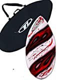 Skimboard Package for beginners - Red - 38'' Fiberglass Wave Zone Diamond plus Board Bag and/or Traction Pad - For Riders up to 110 lbs … (Board + Bag)
