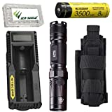 Combo: Nitecore EC23 CREE XHP35 HD E2 LED Flashlight -1800 Lumens w/1x NL1835HP 3500mAh 18650 Battery, UM10 Charger, NCP30 Holster +FREE Eco-Sensa Battery Case