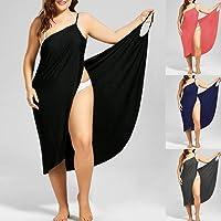 Sandy Beach Shade Cool Cool Frame Eye-catching Charm Aura Plus Size Summer Beach Sexy Women Solid Color Wrap Dress Bikini Cover Up Sarongs