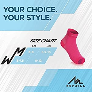 NEWZILL Plantar Fasciitis Socks with Arch Support, BEST 24/7 Foot Care Compression Sleeve, Eases Swelling & Heel Spurs, Ankle Brace Support, Increases Circulation, Relieve Pain Fast (L/XL, Pink)