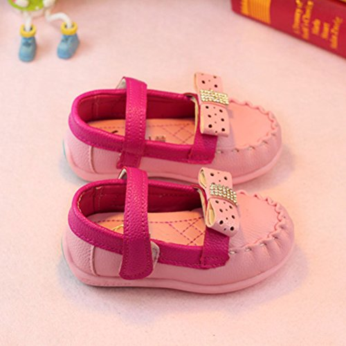 Zhhlaixing Baby Toddler Shoes Walking Flats Child Soft-Soled Shoes Pink