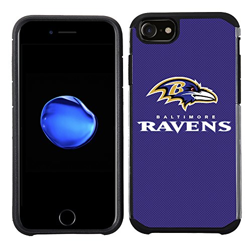 Prime Brands Group Cell Phone Case for Apple iPhone 8/ iPhone 7/ iPhone 6S/ iPhone 6 - NFL Licensed Baltimore Ravens Textured Solid (Baltimore Ravens Case)