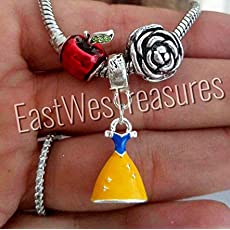 e818e67e89627 EWT 3pc Snow White s dress apple rose Charm set for fit all brand    designer.