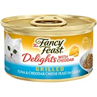 Purina Fancy Feast Grilled Gravy Wet Cat Food, Delights Grilled Tuna & Cheddar Cheese Feast - (24) 3 oz. Cans