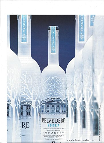 magazine-advertisement-for-2007-belvedere-vodka-multiple-bottle-scene