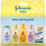 Johnson's Baby Take Along Pack, (Pack of 3)