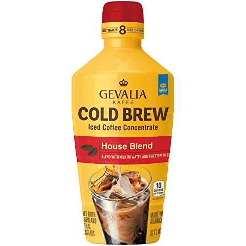 - Gevalia Cold Brew House Blend Iced Coffee Concentrate (32 oz Bottle)