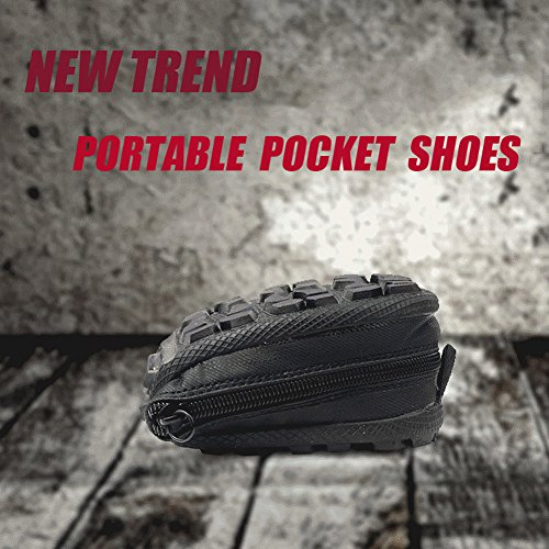 Storage Folding Outdoor GOMNEAR Portable Lightweight Black Travel Flexible Women Fishing and Men Carrying Shoes Sneakers Pocket wCCqtpIPx