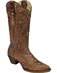 CORRAL Womens Glitter Inlay Cowgirl Boot Snip Toe - A2963