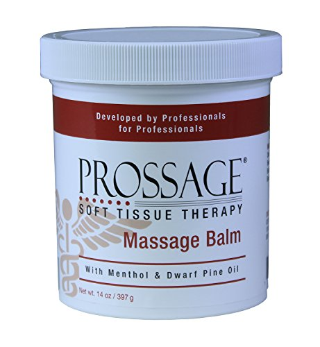 (Prossage Massage Balm for Deep Tissue Massage and Therapuetic Massage, Topical Pain Reliever for Soft Tissue Mobilization, IASTM, Trigger Point Therapy, Graston, Muscle Pain Relief, 14 Ounce Jar)