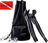 Athletico Scuba Diving Bag - XL Mesh Travel Backpack for Scuba Diving and Snorkeling Gear & Equipment - Dry Bag Holds Mask, Fins, Snorkel, and More (Black)
