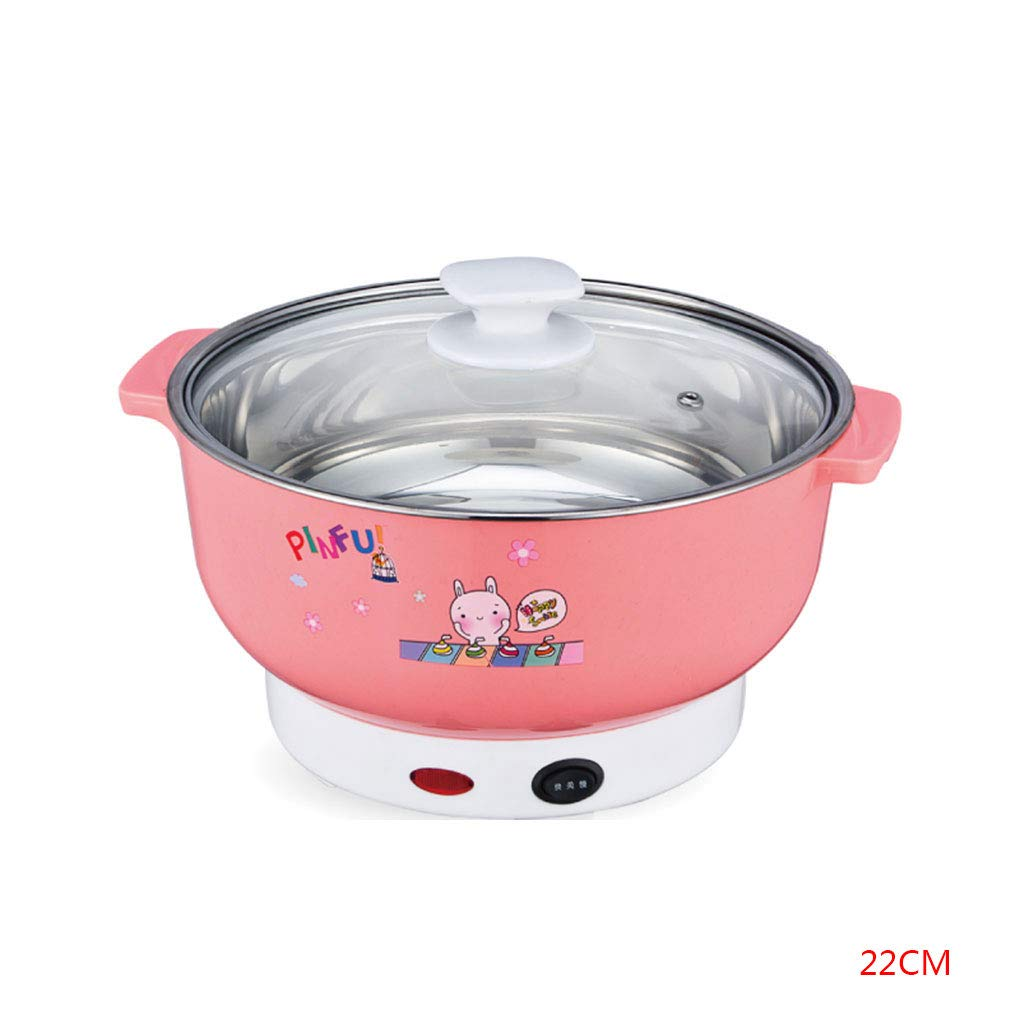 Floridivy Multifunctional Electric Cooker Mini Heating Pan Stainless Steel Hotpot Noodles Rice Steamer Steamed Eggs Soup Pot