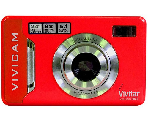"UPC 019643786936, Vivitar 5024RD DIG CAM 5MP 2.4"" LCD 8XSD ANTISHAKE 3xAAA BLACK"