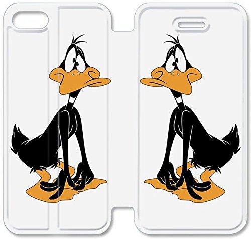 Flip étui en cuir PU Stand pour Coque iPhone 5 5S, bricolage 5 5S étui de téléphone cellulaire Tunes T4U9GG Coque Case personnalisée personnalisée Looney