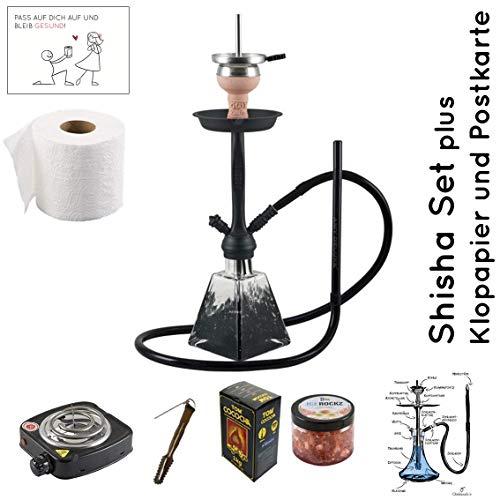 Shisha Set mit Shisha Amy I need you II, Kohleanzünder, Naturkohle, Kaminkopf, Dampfsteine und eine kleine Überraschung…