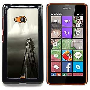 """S-type Rueda Rústico Negro blanco del cielo"""" - Arte & diseño plástico duro Fundas Cover Cubre Hard Case Cover For Nokia Lumia 540"""