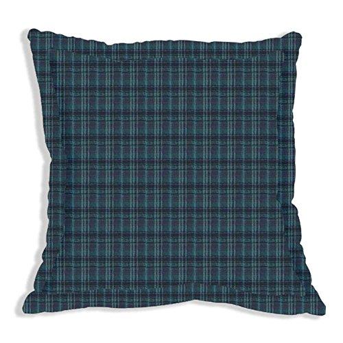 (Patch Magic Plaid Fabric Euro Sham, 26 by 26-Inch, Navy/Light Blue)