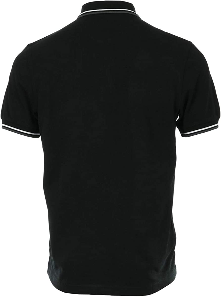 Fred Perry Twin Tipped Shirt Black//White//Iced Slate XL