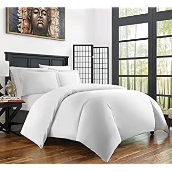 this item zen bamboo ultra soft 3piece bamboo kingcal king duvet cover set and wrinkle resistant white