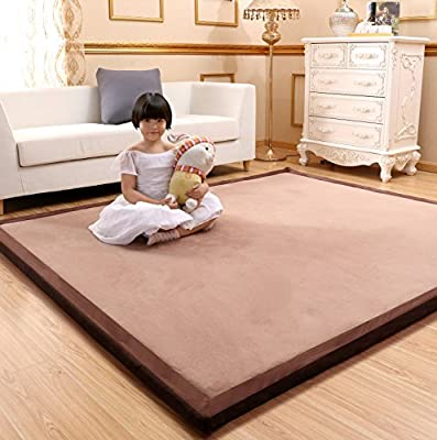 MAXYOYO Baby Play Mat Floor Mat, Large Rug for Living Room, Memory Foam Rug Soft Rug Kids Rug Yoga Mat Non-Slip Thicken Carpet Thickness:3cm, 39 by 79 Inch