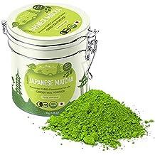 Premium Japanese Matcha Green Tea Powder - 1st Harvest Ceremonial HIGHEST Grade - USDA & JAS Organic - From Japan 30g Tin [1.06oz] - Perfect for Starbucks Latte, Shake, Smoothies & Baking