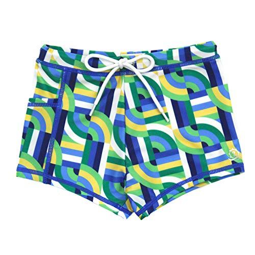 SwimZip UPF 50+ Swim Shorties   Geo Wave / 5T