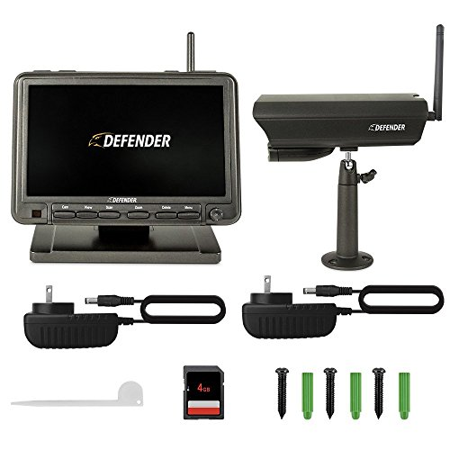 Defender PHOENIXM2 4-Channel Indoor/Outdoor Wireless 640x480 4GB DVR Security System Black