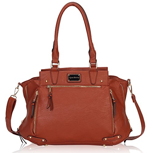 Hynes Victory Luxe Purse Vintage Shoulder Bags for Women Handbags for Work Brown