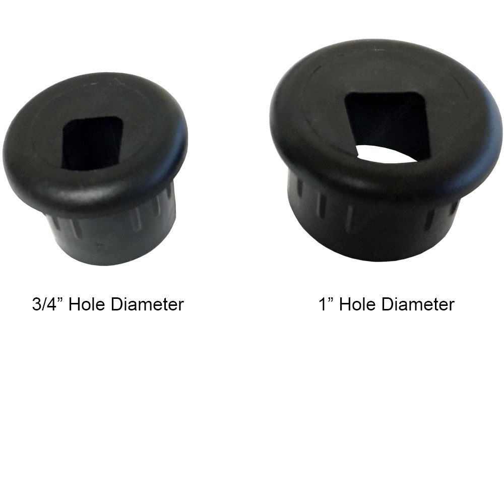 1 Piece Black Electriduct 3//4 Phone and Fax Plastic Grommet Color