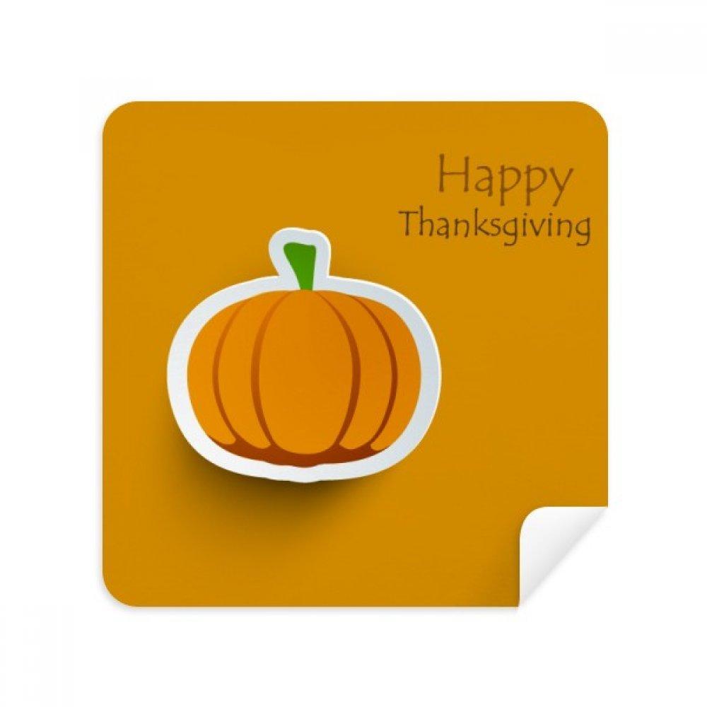 Thanksgiving DayパターンCartoon Pumkinメガネクリーニングクロス電話画面クリーナースエードファブリック2pcs   B07C9779DD