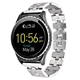 Lwsengme 20mm Quick Release Stainless Steel Bracelet for Men Women Samsung Gear S2 Classic(SM-R732)& HUAWEI Watch 2 Smart Fitness Tracker