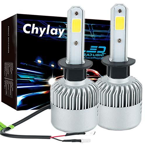 Chylay H1 LED Headlight Bulb for Car Headlamp High Low Beam & Fog Light, 72W 8000LM 6500K White Aluminum Housing & Turbo Cooling -2 Yr Warranty
