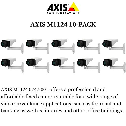Axis M1124 10-PACK - 0747-001 Network Camera for Day/Night with HDTV 720p