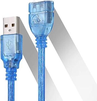 Docooler Cable de extensión USB Cable Macho a Hembra Extender para Smart TV PS4 Xbox One SSD Data Sync USB2.0: Amazon.es: Electrónica