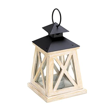 Amazon.com: Wooden Lantern Candle Warmer, Pine Wood Patio Candle ...
