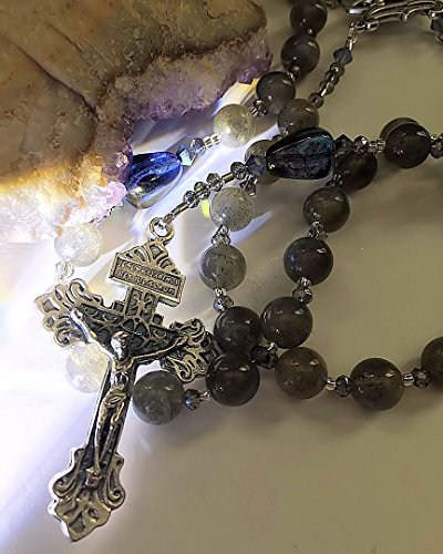 Truly Stunning Labradorite Divine Mercy Rosary ~ A Bead Bouquet of Light -