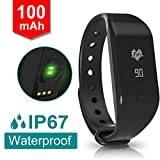 Fitpolo Heart Rate Monitor Waterproof Bluetooth Smart Fitness Tracker Wristband,Silicone wristband,Calorie and Step Counter,Call Notification for Android iOS.