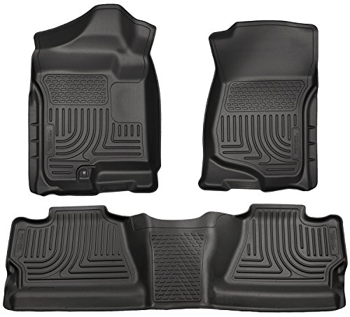 Husky Liner 2nd Row Seat (Husky Liners Front & 2nd Seat Floor Liners Fits 08-13 Silverado/Sierra 1500 Crew)