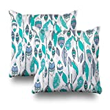 Geericy Decorative Throw Pillow Covers Tribal Southwest Western Blue Arrow Print Cushion Cover 18X18 Inch for Bedroom Sofa,Set of 2